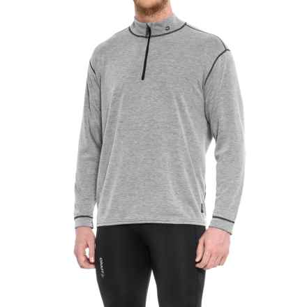 Polarmax Grey Heather Micro H2 Base Layer Top - Zip Neck, Long Sleeve (For Men) in Grey Heather - Closeouts