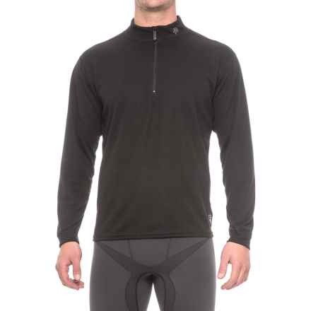 Polarmax Micro H2 Base Layer Top - Zip Neck, Long Sleeve (For Men) in Black - Closeouts
