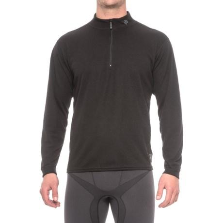 Polarmax Micro H2 Base Layer Top - Zip Neck, Long Sleeve (For Men) in Black