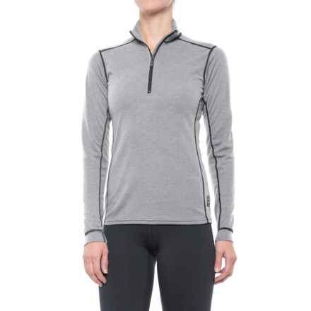 Polarmax Micro H2 Zip Mock Neck Shirt - Long Sleeve (For Women) in Grey - Closeouts