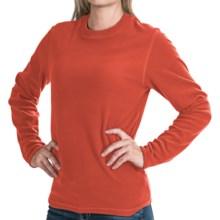 Polartec® Aircore 100 Fleece Shirt - Crew Neck, Long Sleeve (For Women) in Orange - 2nds