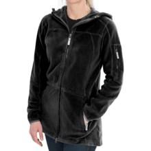 Polartec® AIRCORE Fleece Jacket - Full Zip, Hooded (For Women) in Black - Closeouts
