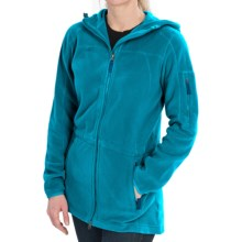 Polartec® AIRCORE Fleece Jacket - Full Zip, Hooded (For Women) in Teal Waters - Closeouts