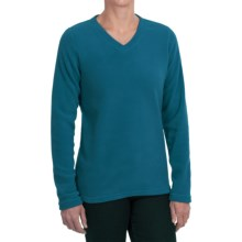Polartec® AIRCORE Fleece Pullover - V-Neck, Long Sleeve (For Women) in Turquoise - 2nds