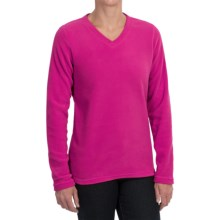 Polartec® AIRCORE Fleece Shirt - V-Neck, Long Sleeve (For Women) in Fuchsia - 2nds