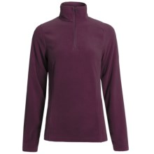 Polartec® Fleece Pullover Jacket - Zip Neck (For Women) in Dark Wine - 2nds