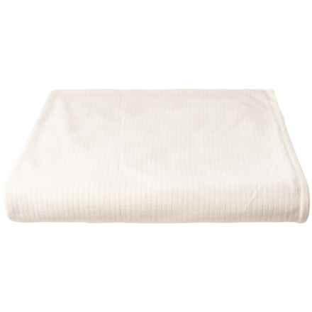 Polartec Softec Microfleece Blanket - Full-Queen, Cream in Cream - Closeouts