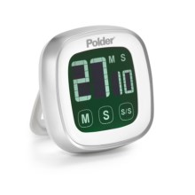Polder Digital Touchscreen Timer in White - Closeouts
