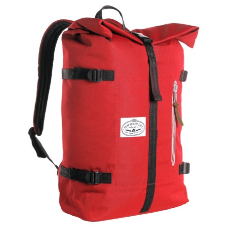 Poler Classic Rolltop 28L Backpack in Bright Red