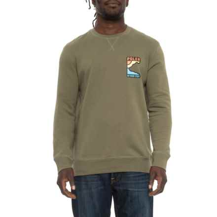 Geo Bear Pullover Shirt - Crew Neck, Long Sleeve (For Men) in Olive - Closeouts