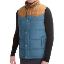 Poler Guide Down Vest - 550 Fill Power (For Men) in Ocean/Hazel - Closeouts