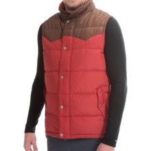 Poler Guide Down Vest - 550 Fill Power (For Men) in Red/Beaver - Closeouts