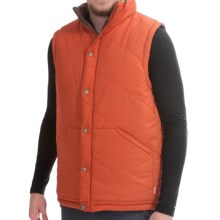 Poler Reversible Vest - Insulated (For Men) in Burnt Orange - Closeouts