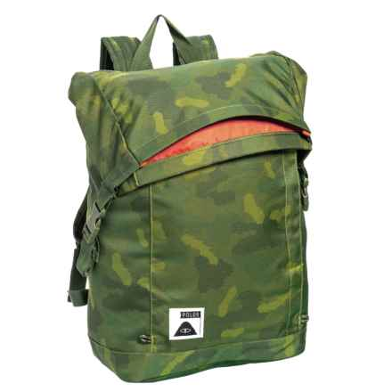Roll-Top Backpack in Green Furry Camo - Closeouts
