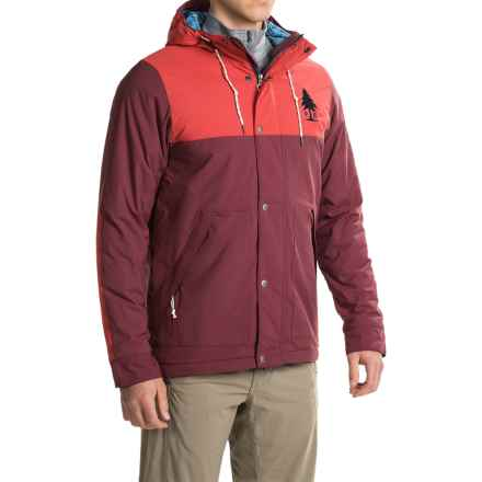 Poler Scout Jacket - Waterproof, Insulated (For Men) in Sweet Berry Wine/Lava - Closeouts
