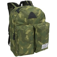 Poler Stuff Day Backpack - Laptop Sleeve in Green Camo - Closeouts