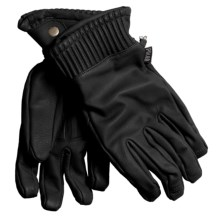 Poler The Wy'East Leather Gloves - Waterproof (For Men) in Black - Closeouts