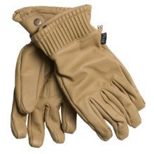 Poler The Wy'East Leather Gloves - Waterproof (For Men) in Natural - Closeouts