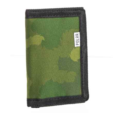 Trifold Wallet in Green Furry Camo - Closeouts