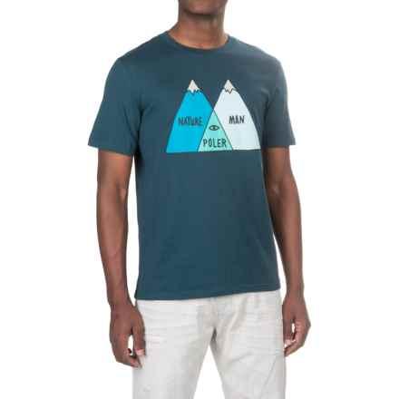 Poler Venn Diagram T-Shirt - Short Sleeve (For Men) in Blue Steel - Closeouts