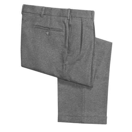 Polyester Dress Pants - Reverse Pleats (For Men) in Grey Heather - 2nds