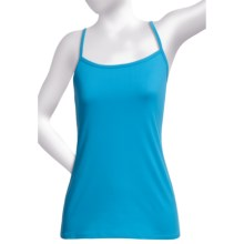 Polyester Knit Camisole - Shelf Bra (For Women) in Turquoise - 2nds
