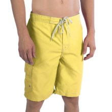 Polyester Swim Trunks - Inner Mesh Brief (For Men) in Yellow - 2nds