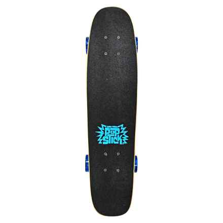 "Pom Pom Pop Stick Skateboard - 26.5"" in Blue - Closeouts"