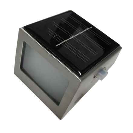 Pomegranate Solutions Solar Wedge Step Light - Stainless Steel in Stainless Steel - Overstock