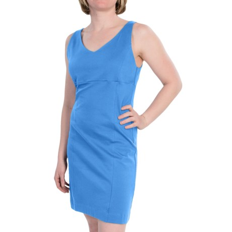Ponte Dress - Sleeveless (For Women) in Tropical Blue