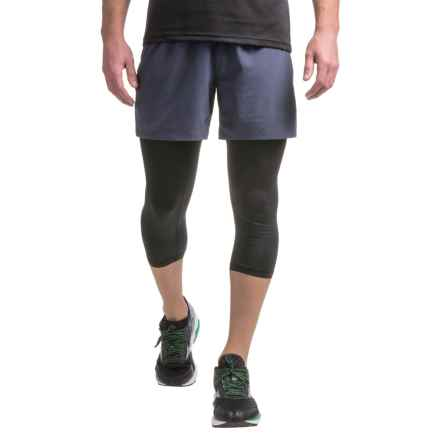 PONY 3/4 Compression Tights (For Men) in Black Print/Shadow Grey - Closeouts