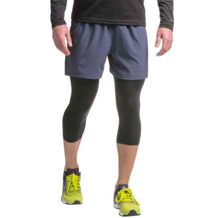 PONY 3/4 Compression Tights (For Men) in Black/Shadow - Closeouts