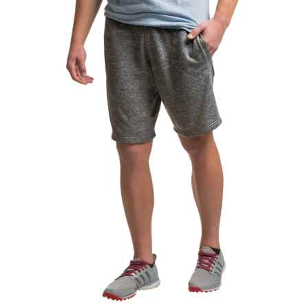PONY Drawstring Waist Shorts (For Men) in Dark Charcoal Heather - Closeouts