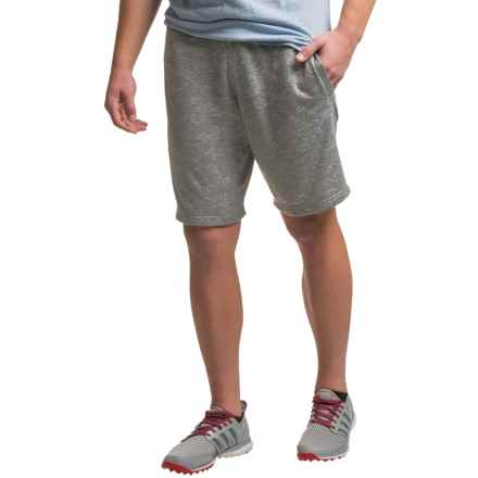 PONY Drawstring Waist Shorts (For Men) in Light Grey Heather - Closeouts