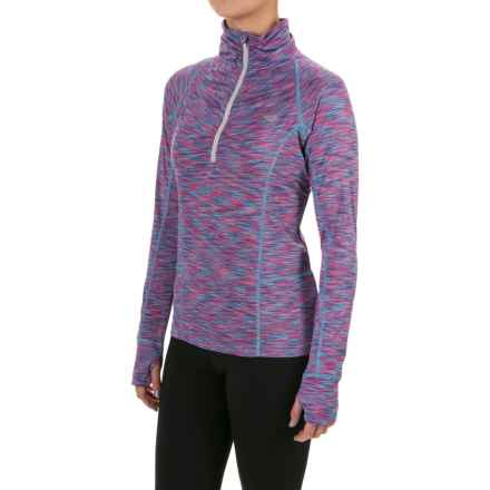 PONY Fashion Jacket - Zip Neck (For Women) in Rebel Pink/ Jazz Blue - Closeouts