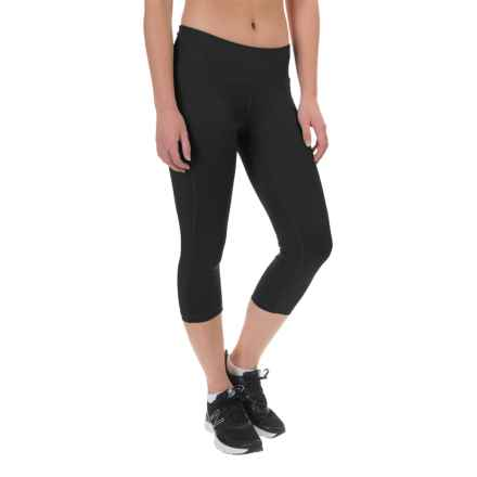PONY Fitted Capris (For Women) in Black/ Black - Closeouts