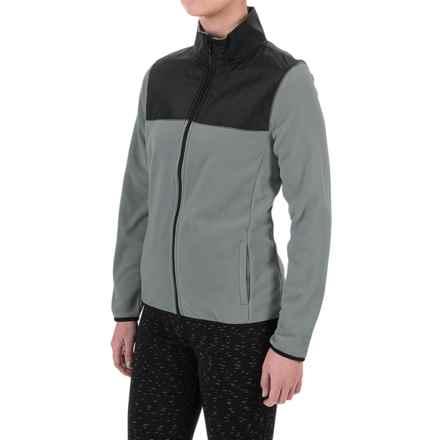 PONY Fleece Jacket - Full Zip (For Women) in Grey - Closeouts
