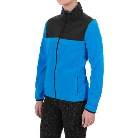 PONY Fleece Jacket - Full Zip (For Women) in Heron Blue - Closeouts