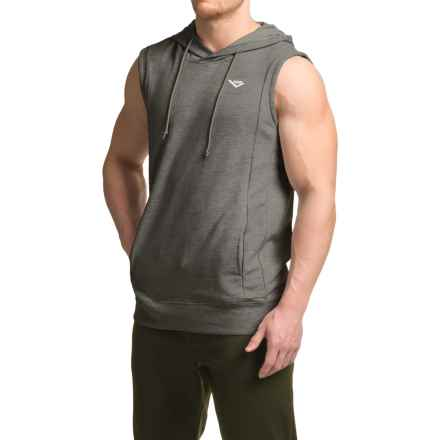 PONY French Terry Hoodie - Sleeveless (For Men) in Iron Heather - Closeouts