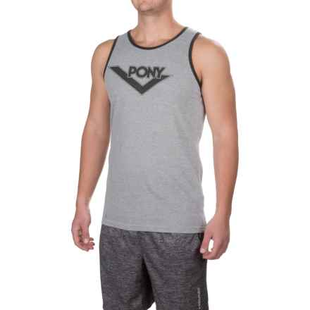 PONY Logo Shirt - Sleeveless (For Men) in Light Grey Heather - Closeouts