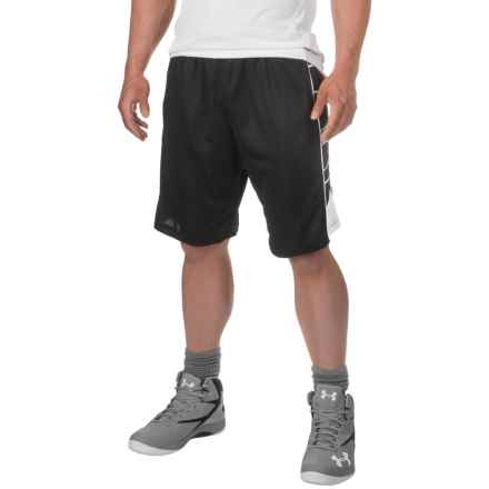 """PONY Mesh Active Basketball Shorts - 11"""" (For Men) in Black/ White - Closeouts"""