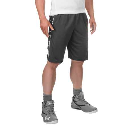 "PONY Mesh Active Basketball Shorts - 11"" (For Men) in Iron/ Black - Closeouts"