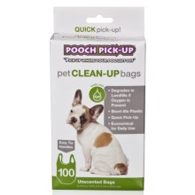 Pooch Pick-Up Bags - 100-Pack in See Photo - Closeouts