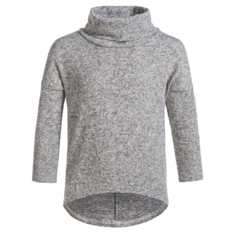 Poof Cowl Neck Sweater (For Girls) in Silver Grey/Egg White Marl/Gold Lurex