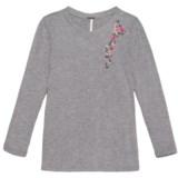 Poof Embroidered Shoulder Shirt - Long Sleeve (For Girls)
