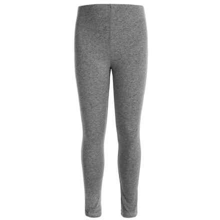 Poof Too Basic Cotton Leggings (For Big Girls) in Grey Heather - Closeouts