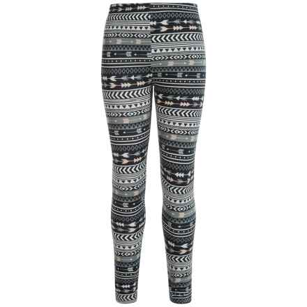 Poof Too Peached Printed Leggings (For Big Girls) in Black - Closeouts