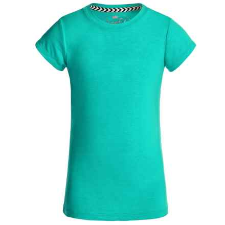 Poof Too! Slub T-Shirt - Short Sleeve (For Big Girls) in Aqua - Closeouts