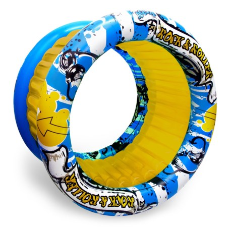 """Poolmaster Rock & Roller Inflatable - 70x54"""" in Yellow/Blue"""