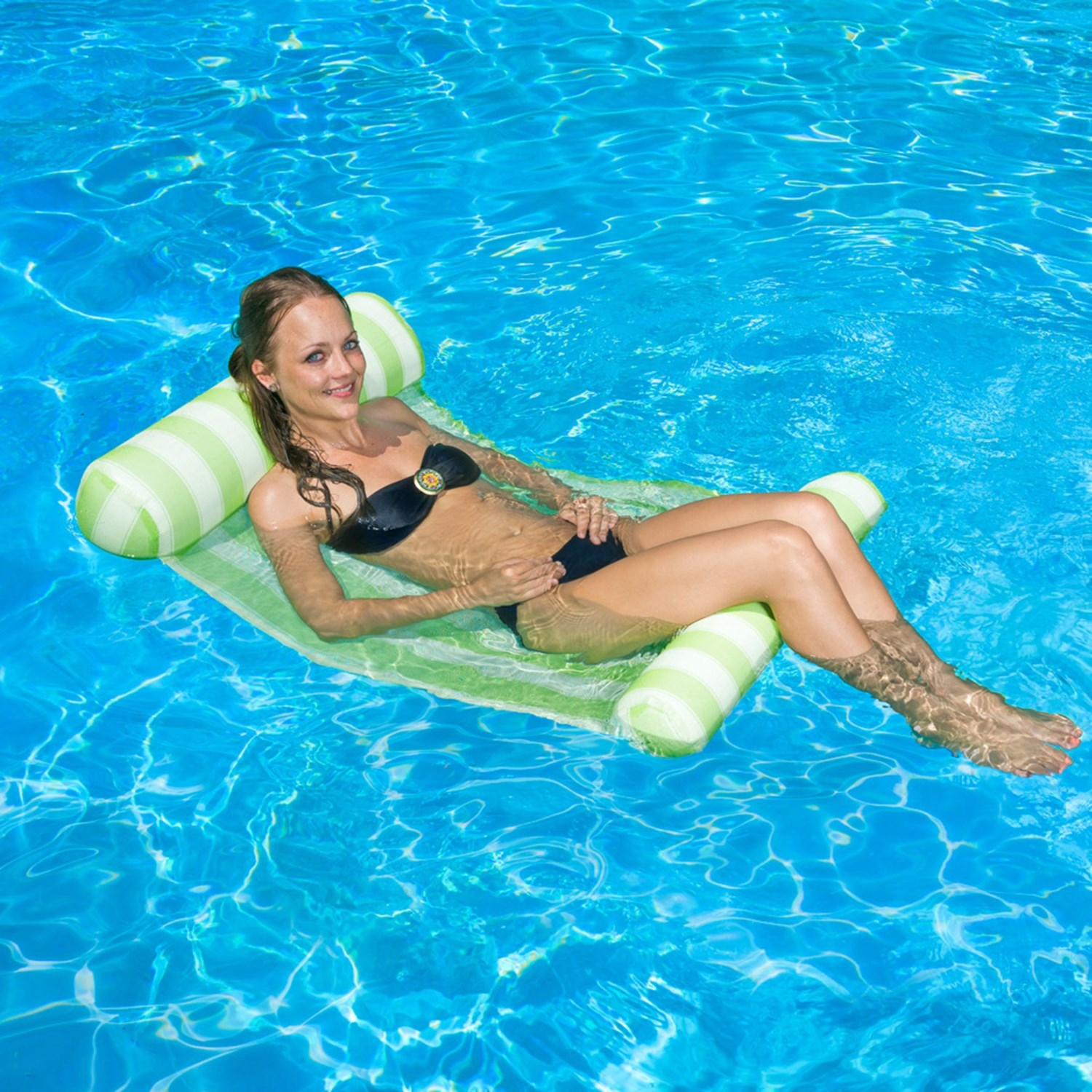 pool inflatable accessories furniture hammock from com equipment item water float on air stripe in mattress hammocks swimming lounger aliexpress